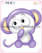 Lovely purple mouse plastic toy/making animal figurine/plastic christmas mouse toys