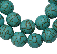 6mm Round Howlite Beads Strings, Dyed Gemstone, 64 Pcs/strand, 20 Strands/pack(GSR6mm129)