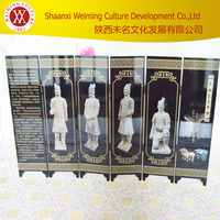 Chinese traditional arts and crafts folding screen the Terra Cotta Warriors