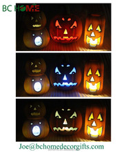 Halloween pumpkin,LED light pumpkin,halloween pumpkin resin crafts