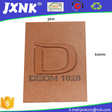 Custom embossed leather trademarks label and tag