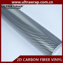 Ultrawrap 1.27x50m bubble free 2D black carbon fiber vinyl paper