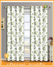 New fancy sunproof decorative door curtain with colorful leaf design printing