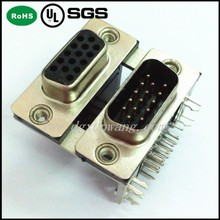 double d-sub connector DB 15P