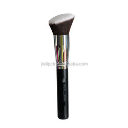 single wedge shape brush cheap price makeup brush with plastic bag