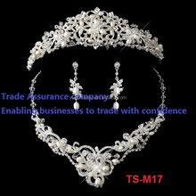 Trade Assurance comany crystal tiara and jewelry set