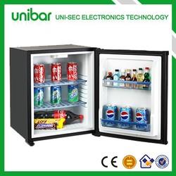40 liter glass door mini bar fridge with transparent door with no compressor(USF-38)