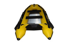CE certificate 4.3m 9 passengers inflatable PVC boat with outboard motor