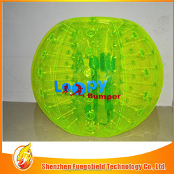 2014 bubble football/loopy football match cheap bubble ball giant inflatable clear ball