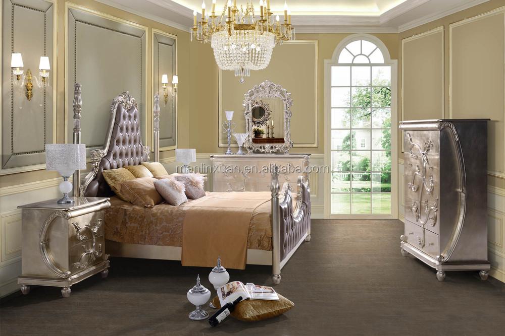 Nueva mano de madera tallada antigua dormitorio muebles clásicos ...