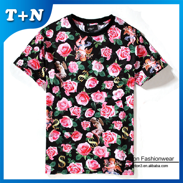 Custom design 3d t shirt digital printing t shirt Custom t shirt digital printing