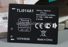 3.7v 1400 mAH mobile phone li-ion battery for OT 4012 One Touch Fire TLi014A1