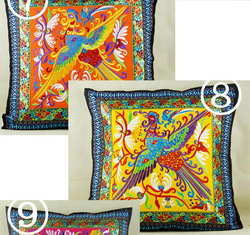 Top quality children pillow case peony design ethnic embroidery pillow case Hot selling cotton fabric pillow