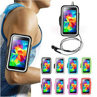 Armband sport mobile phone waterproof case for Samsung Galaxy S5 I9600 transparent window for your easy watch