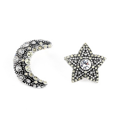 Wholesale China Factory New Designs Star And Moon Crystal Earring Set