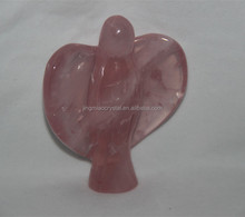 Rose crystal ANGEL with Natural Magic Wand