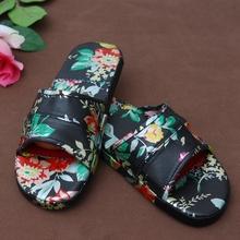 Multicolor PU sole indoor man summer leather gel slipper