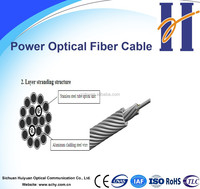 Composite overhead ground wire with optical fiber (OPGW) 12, 24 and 48 core fiber optic cable