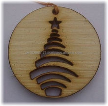 Christmas Tree with Star, Laser Cut
