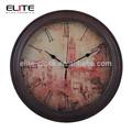 Pintura de madera analógico reloj de pared