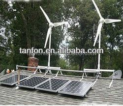 Hybrid System 1000W 3000W vertical wind turbine generator+ 2000w solar energy
