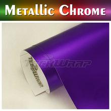 TeckWrap High Quality Matte Metallic Chrome Vinyl, 1.52*20m stretchable car color changing vinyl film