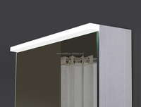 LED illuminated Bathroom Cloakroom Gloss White Mirror Cabinet with led lights