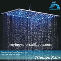 JFQ046CP top luxury rainbow led shower head