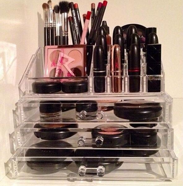 transparent acrylique maquillage bo tes de rangement effacer maquillage bo te de rangement. Black Bedroom Furniture Sets. Home Design Ideas