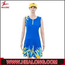 Fully Dye Sublimation slimming customized sublimation netball dress plus size