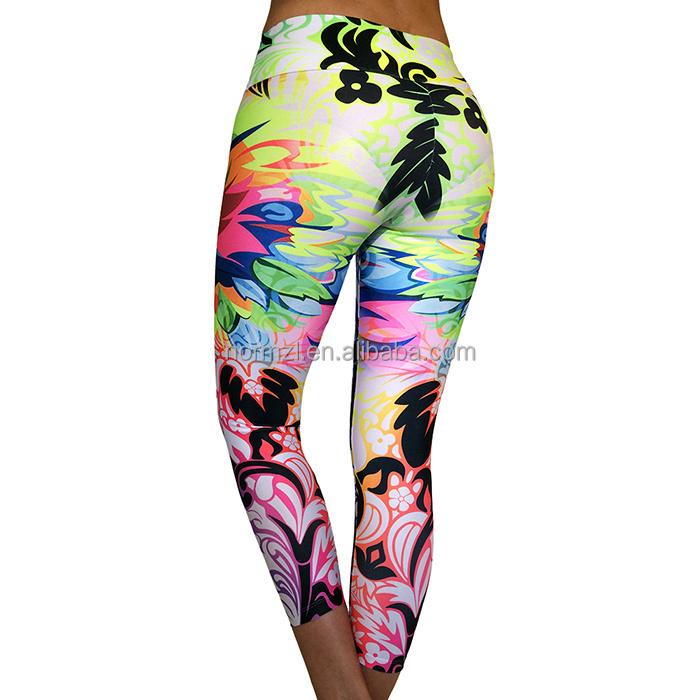 Custom Made Sublimated Women Yoga Pants Wholesale