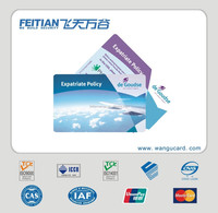 2015 Feitian wangu cheap plastic customized PVC Clear Plastic Business Card
