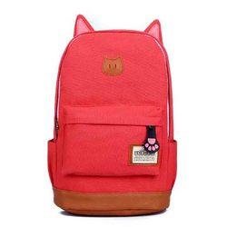 Hotsale Hot Promotion 2015 Women and men's Women Cartoon Cat Ear Backpacks fashion school bag Backpack Women's travel Bags