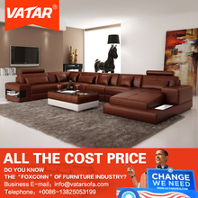 VATAR home furniture italy design recliner genuine leather sofa set