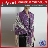 belly dance hip scarf JDY-011# Printing scarf 100% acrylic scarf wholesaler