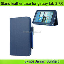 Tablet case cover slim folio leather case for samsung galaxy tab 3 7.0 T210,for samsung galaxy tab 3 7.0 leather case