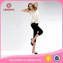 Hot selling tabao style girls dress black cropped trousers wholesale sexy girls in tube tights