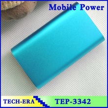 Power bank 5200/6000mah emergency universal charger silver for iphone 6