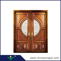 2015 new products zhejiang room door price solid teak wood arch door