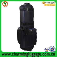 waterproof golf travel bag/durable cover golf bag with wheels