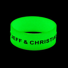 Promotion Silicone Wristband Glow In the Dark Bracelet For Events