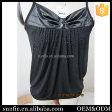 High quality seamless knitting underwear ladies fancy tops racerback tank tops