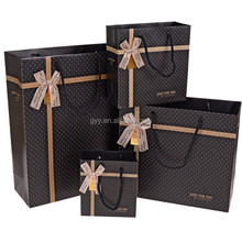 High Grade Dotted Jewelry Packaging Bags with Silk Bowknot