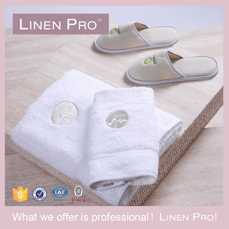 Embroidery Logo Wholesale White Cotton Hand Towels