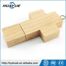 Religious Promotional 3.0 4.0 Wood Pen Drive / Cross Shaped USB Flash 512gb