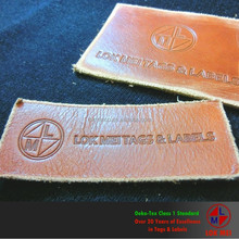 Garment Used High Quality Embossed Genuine Leather Patch/ Label