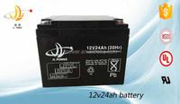 12v24ah AGM battery Solar battery AGM/VRLA lead acid battery 12v24ah for Electric starting made in Guangzhou