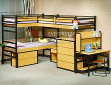 College Student Dormitory Furniture Dormitory Metal Bunk Bed with Desk