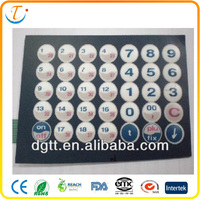 OEM professional tact LCD high quality auto manufacture membrane push keyboard with LED