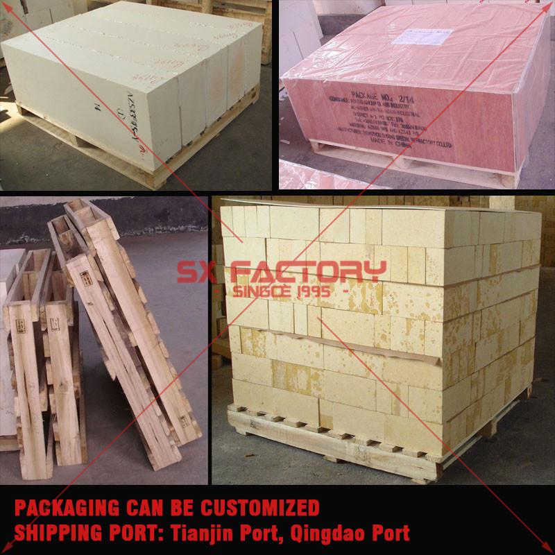 cement refractory, precast fused cast AZS41 brick,refractory fire brick